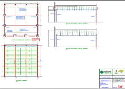 Elaboración de los diseños y memorias de cálculo de la estructura metálica para la cubierta del coliseo deportivo en el Colegio Nuestra Señora del Rosario de la ciudad de Bucaramanga, Santander.