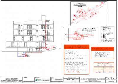 Plano red contraincendios clínica bienestar (Luz Mary Arroyo & cia. s en c)