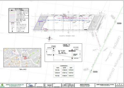 Plano sanitario edificio multifamiliar Portofino (Arquitecto Julio Florez)